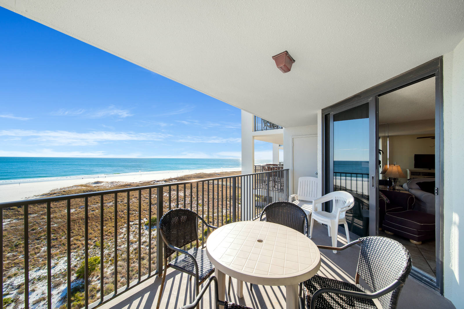 Balcony with Access from Living Room & Master Bedroom