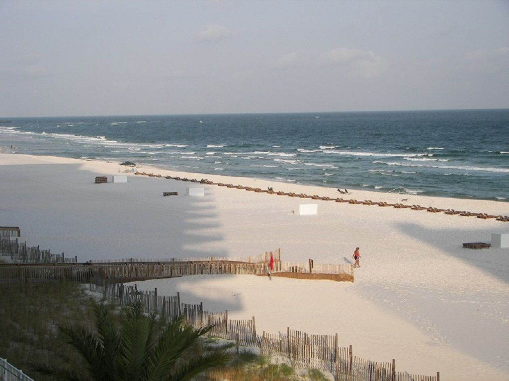 Beach View from Gulf Front Balcony