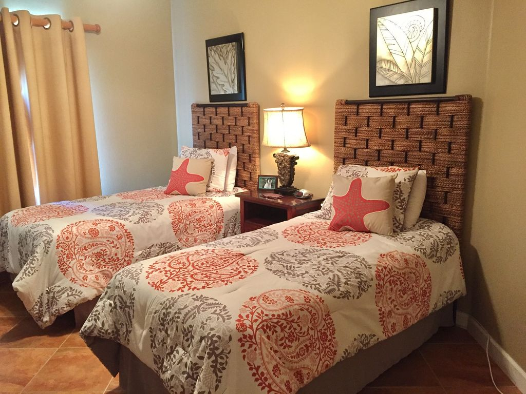 Twin Guest Bedroom with new Comfortable Beds