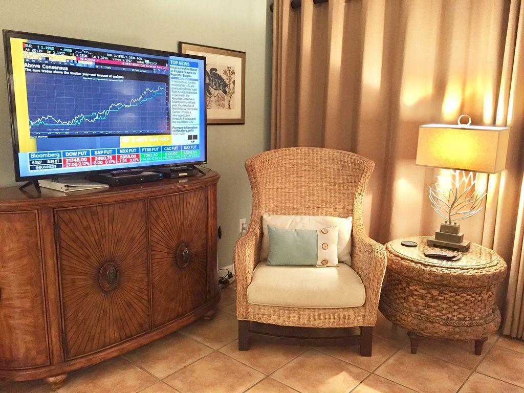 60 inch Smart TV, Blu Ray and Ipod docking station