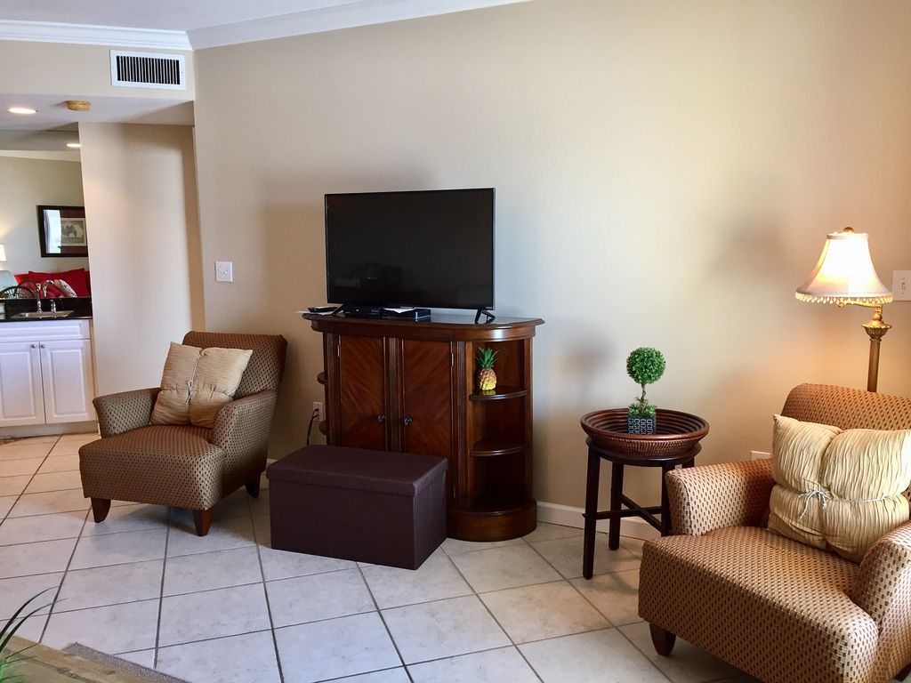 Living room with 50 inch HDTV and DVD