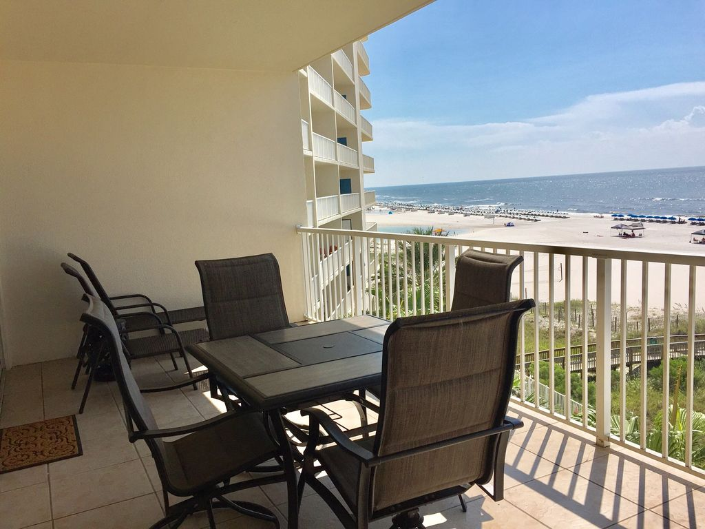 View of Balcony overlooking the Gulf of Mexico