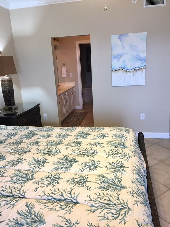 Master Bedroom opens to Private Bath with Large walkin closet