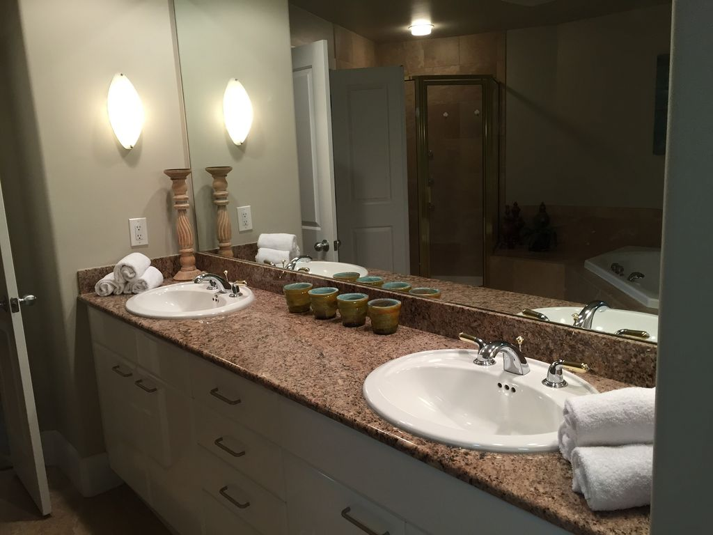 Master Bath with Double Vanities and walk in closet