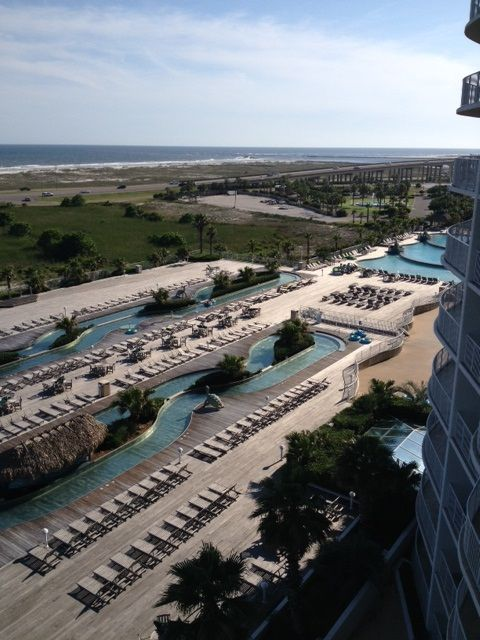 Caribe - View of River Pool from Balcony