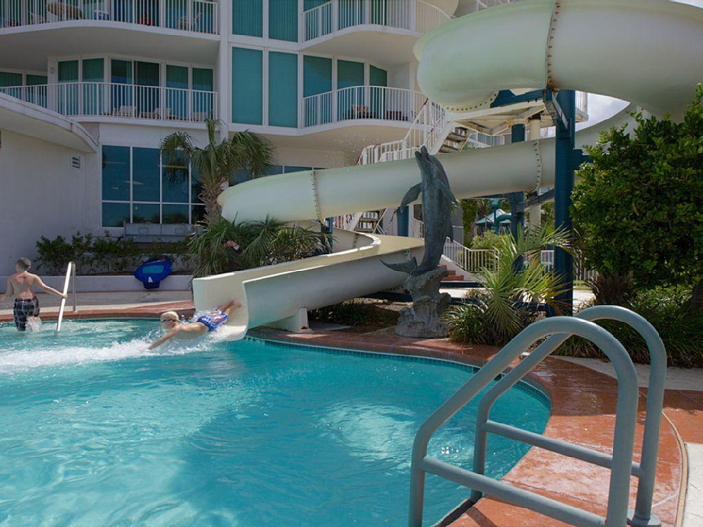 Caribe Slides at Outdoor pool