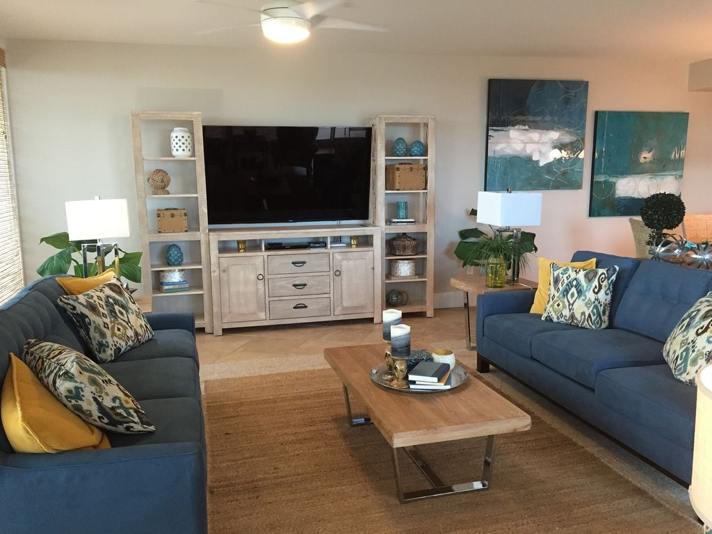Spacious Living Room with Queen Sleeper & 70 Inch TV and Blu Ray