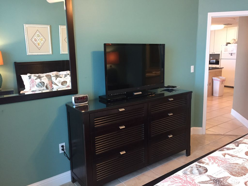 Master Bedroom with TV and DVD