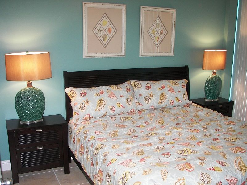 Master Bedroom with comfortable King Bed - Opens to Gulf Front Balcony