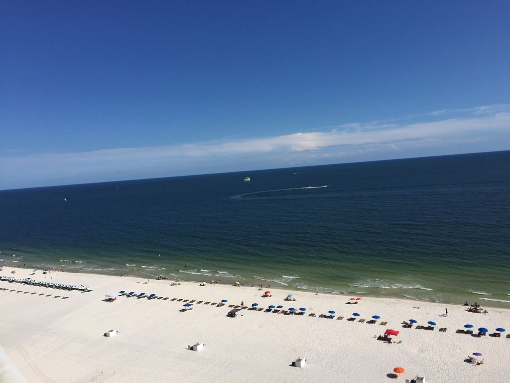 View of White Beaches and Gulf of Mexico from Balcony