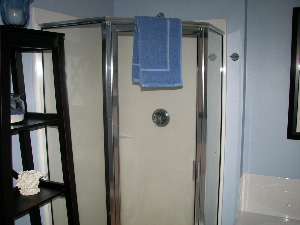 Lighthouse - Glass enclosed Shower in Master Bathroom