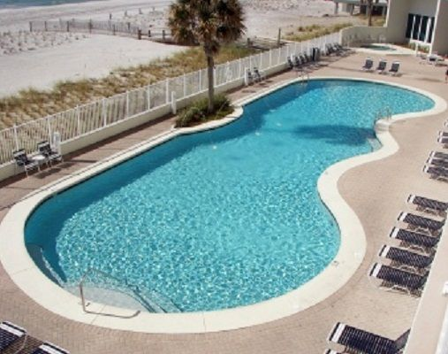 Second Large outdoor pool and hot tub at Lighthouse Condo