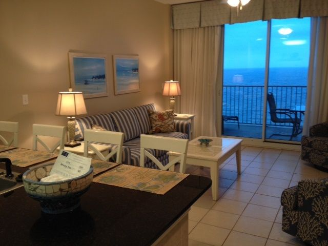 Lighthouse - Gulf front livingroom overlooking the Gulf of Mexico