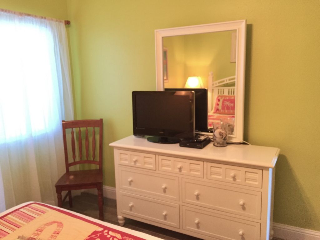 Guest Bedroom with TV and DVD