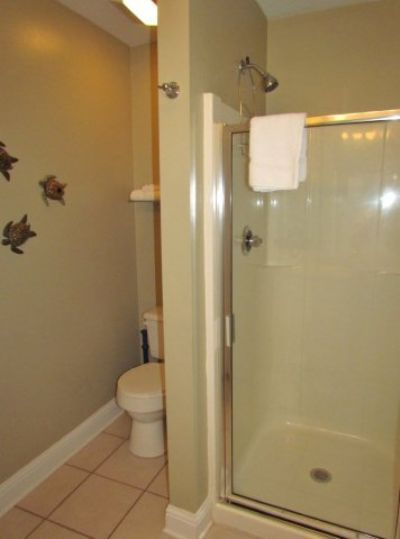 Guest Bathroom with Glass enclosed Shower