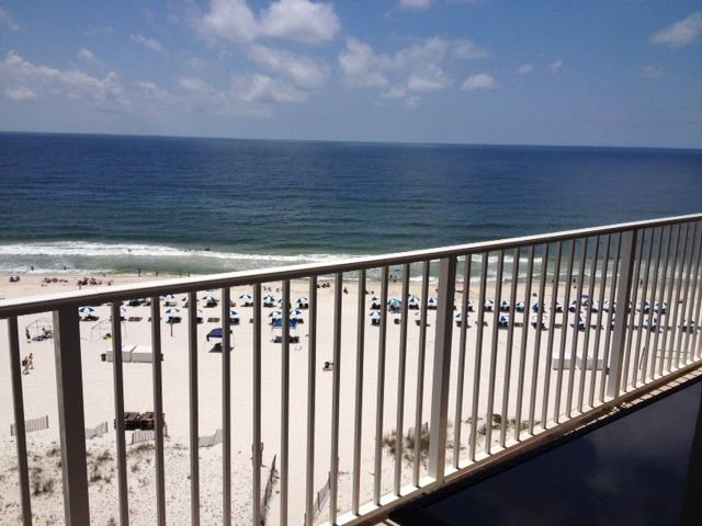 View of Beach from Balcony overlooking the Gulf of Mexico