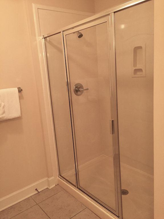 Master Bath Glass Enclosed Shower