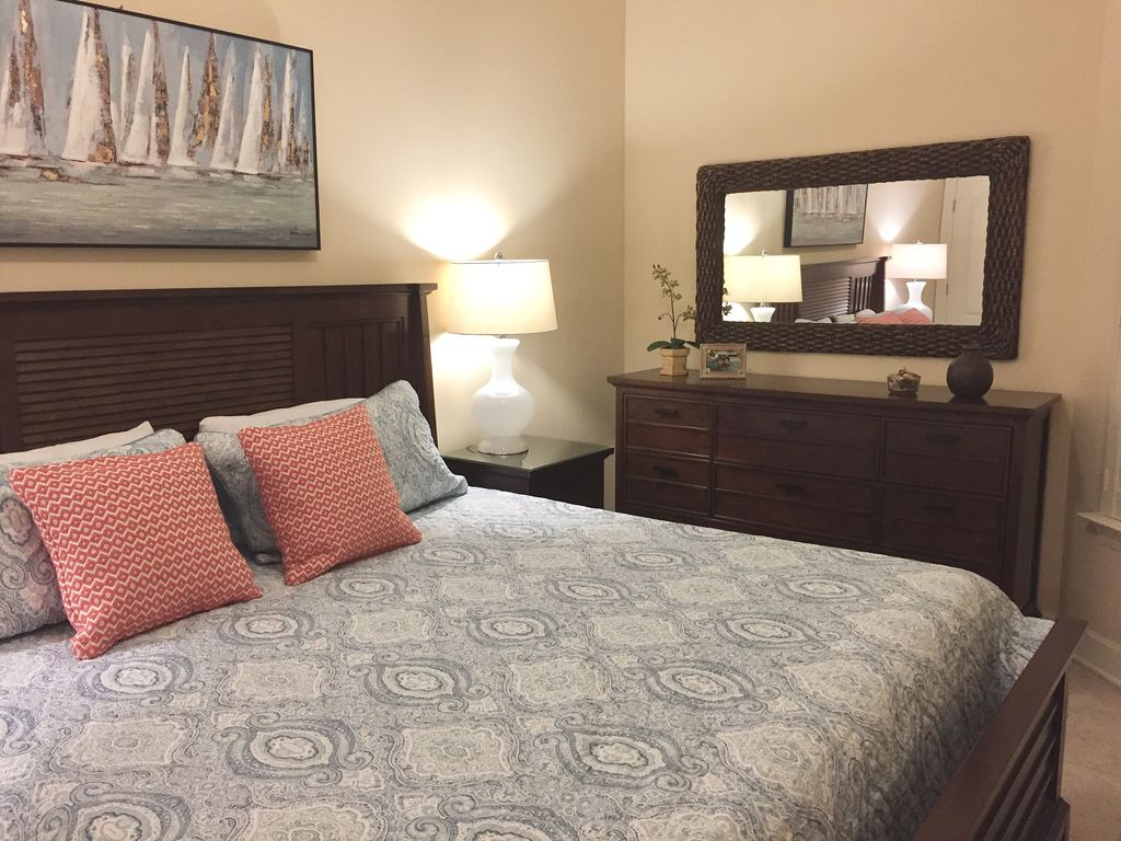 King Guest Bedroom with Spacious Dresser