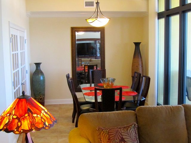 Dining room with seating for 6 and wonderful view