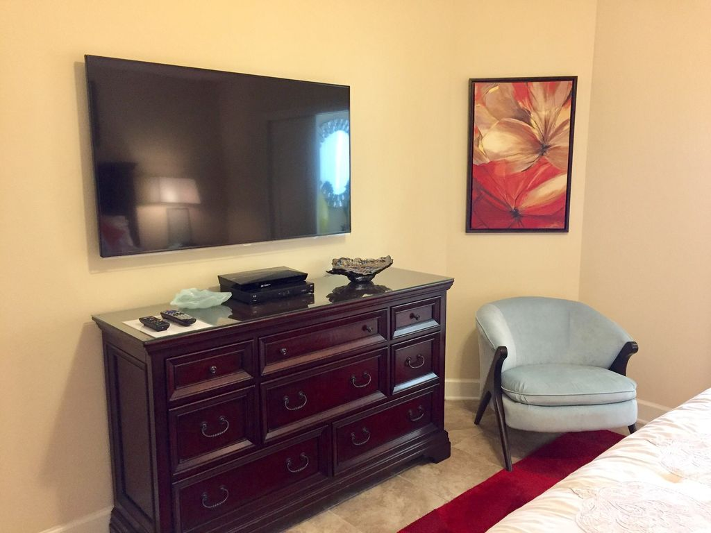 Master Bedroom with Large TV & DVD