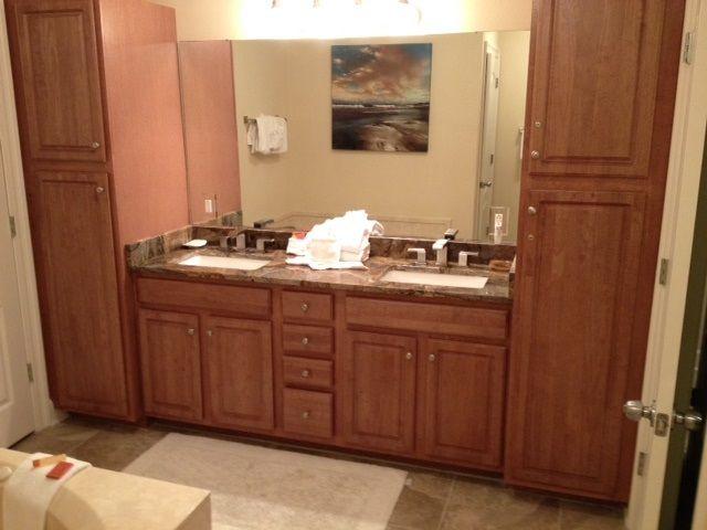 Master Bathroom with Double Vanities