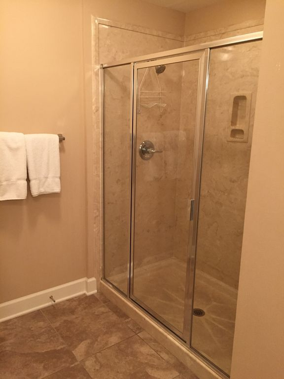Master Bath with Glass Enclosed Shower