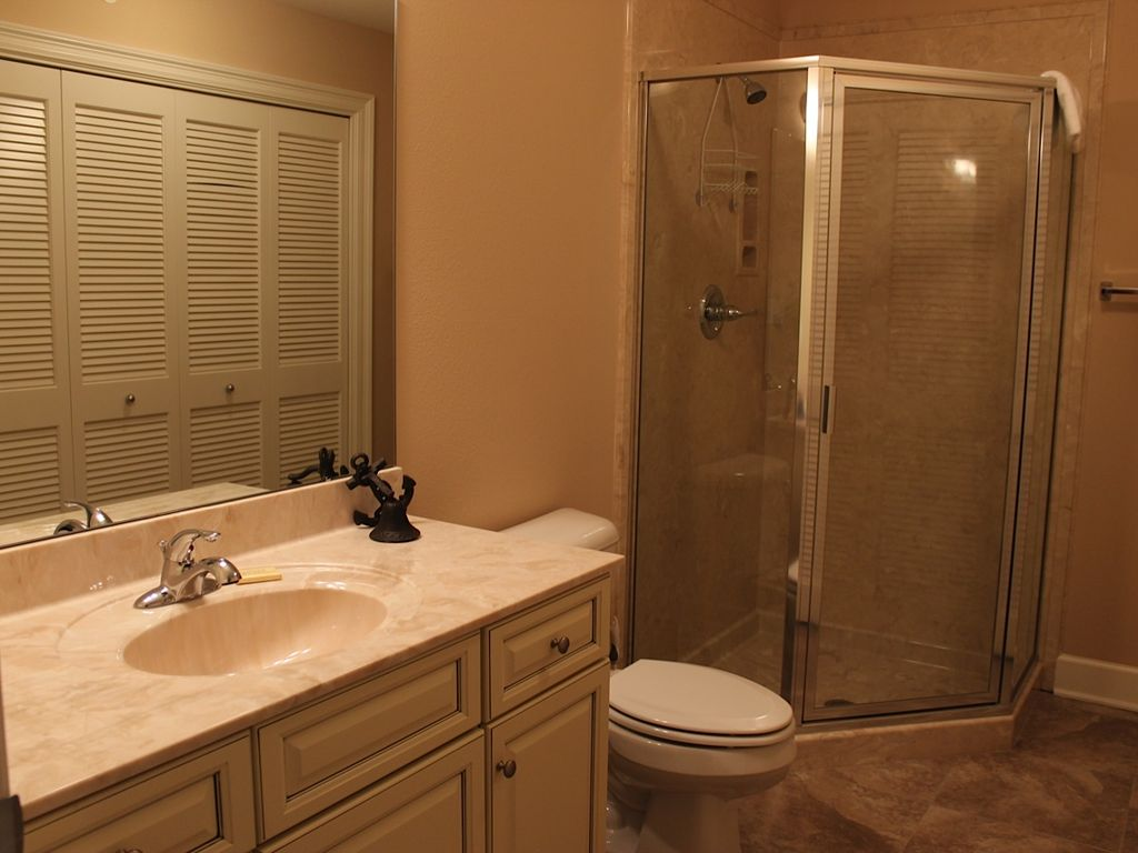 Hall Bath with Shower and Laundry Room