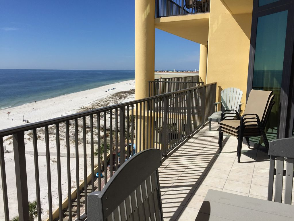 View from Balcony with lounger & 4 extra chairs