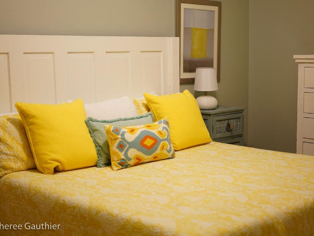 Closeup of King Master Bed in Guest Bedroom
