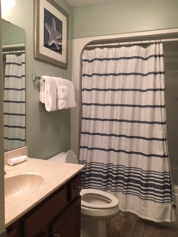 Tub Shower in Guest Bathroom