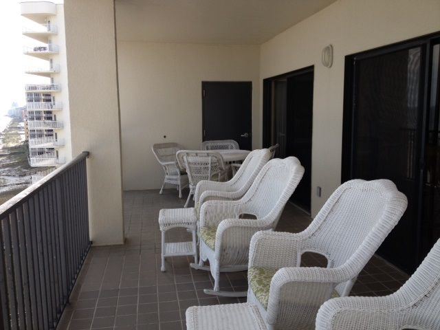 Balcony overlooking Beach and Gulf of Mexico