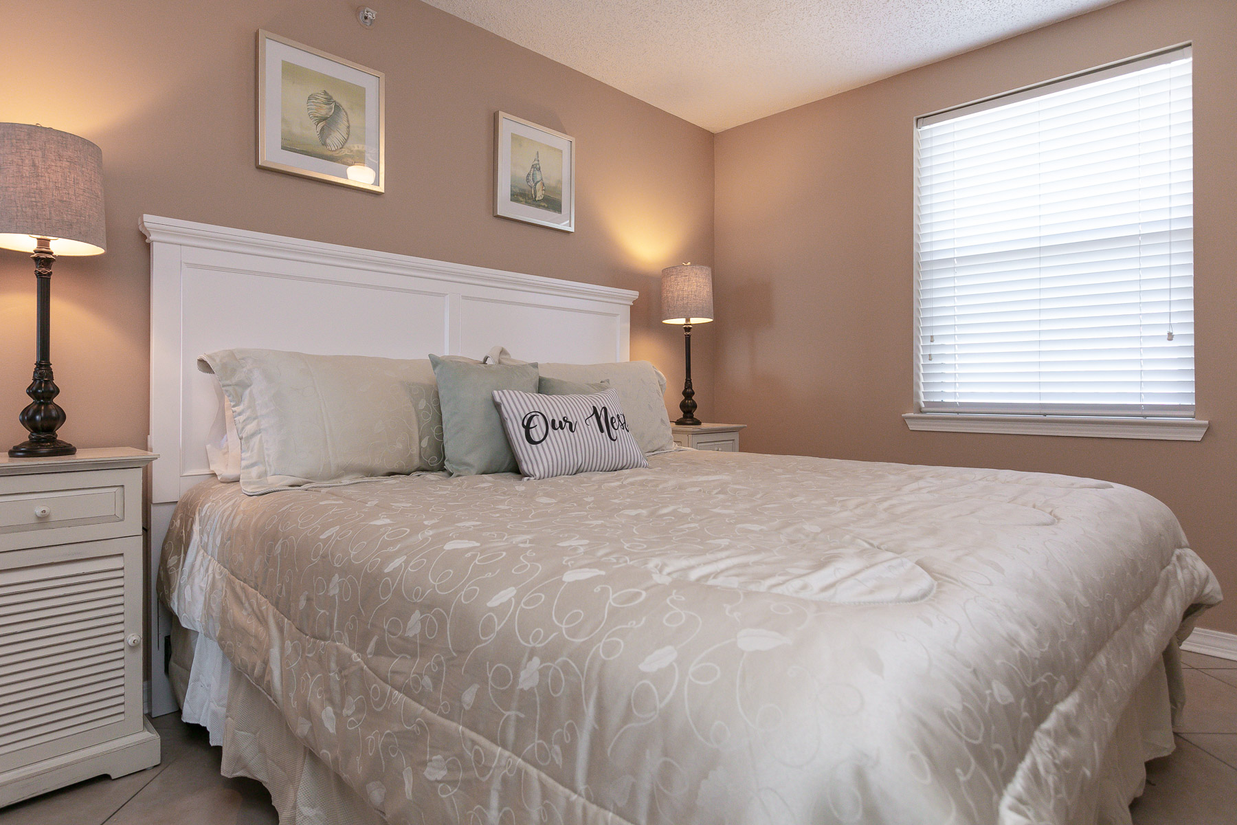 Master Bedroom with King Bedding