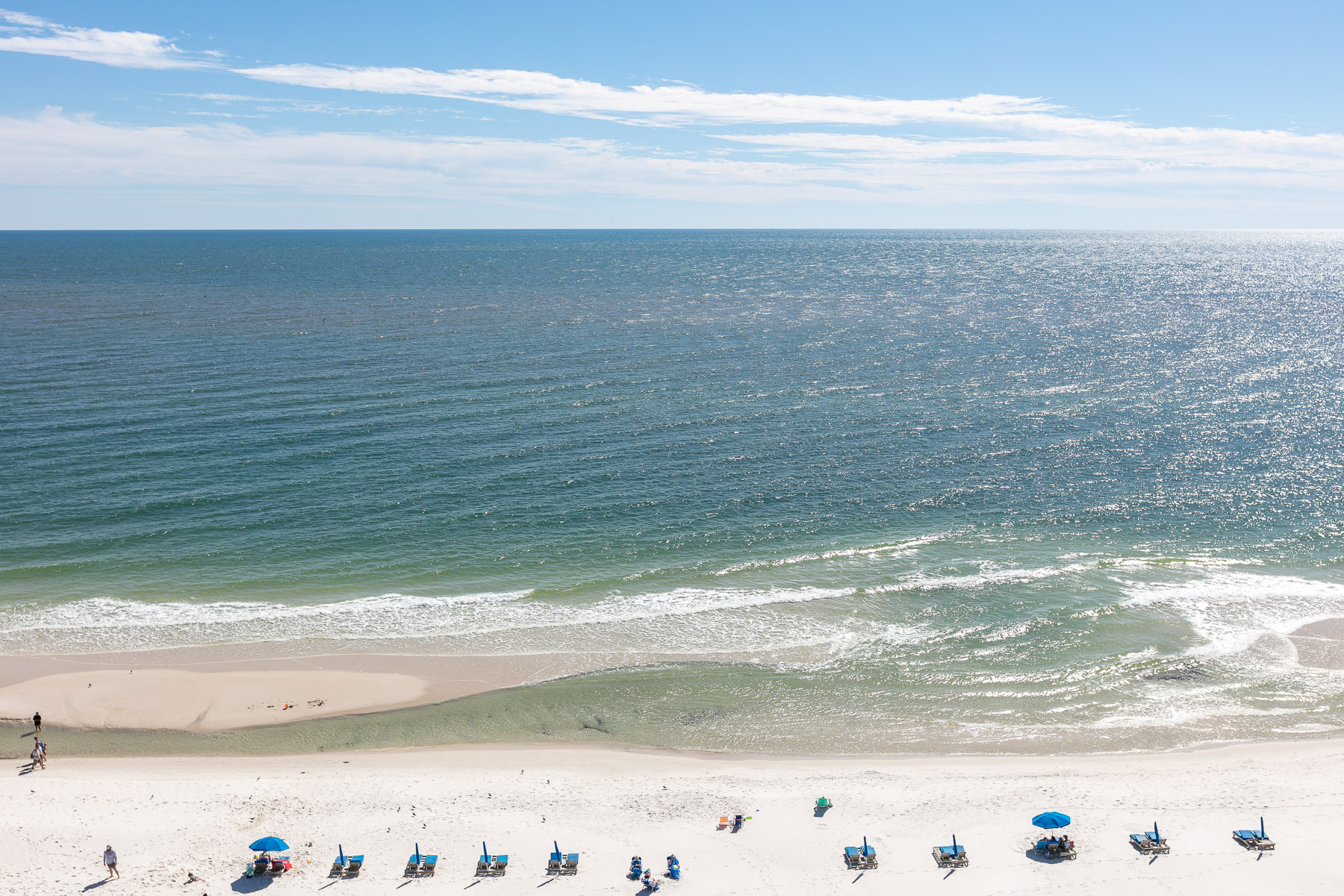 Views of the White Sandy Beach