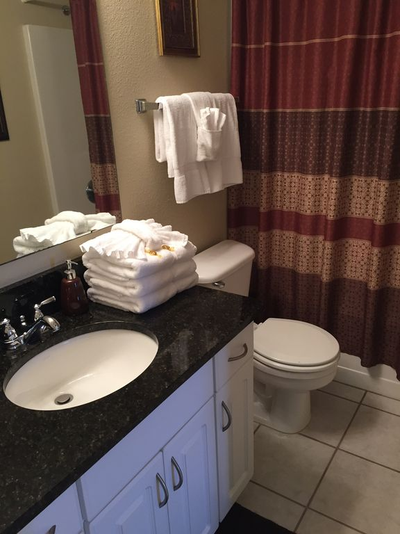 Guest Bathrom - opens to bedroom and hallway