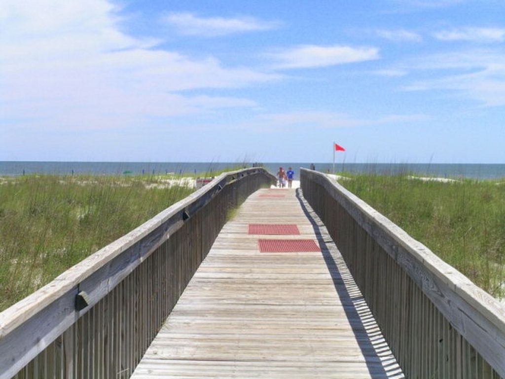 Boardwalk leading to Beach from Tidewater