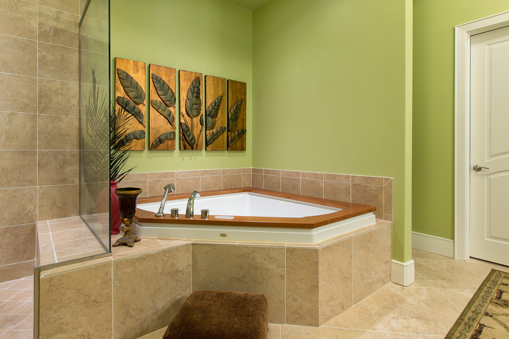 East Master Bath with Oversized Jetted Tub and Walk-in Shower