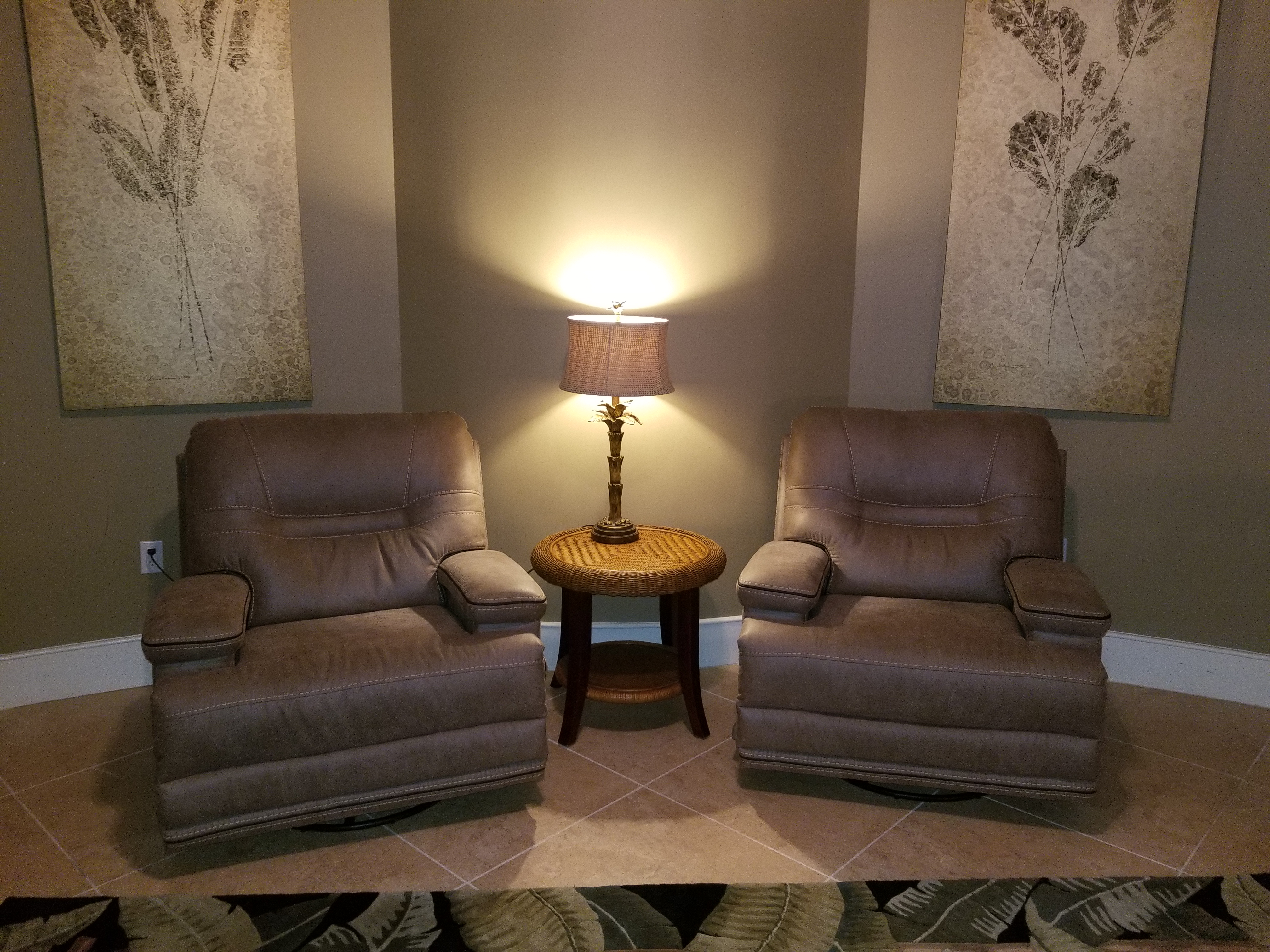 Comfy Seating in Bunk/Media Room