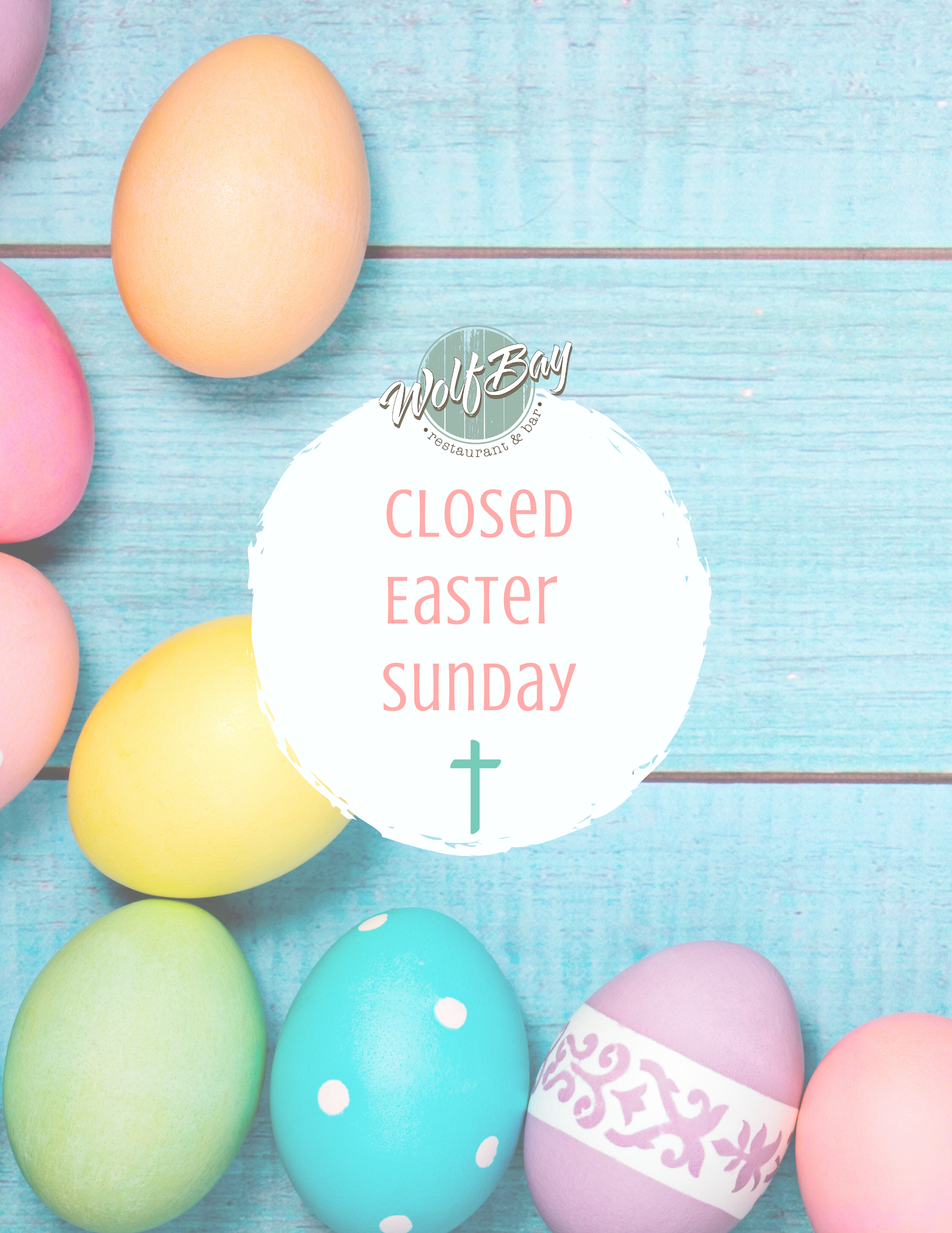 Closed Easter - Order Easter Meals for Pick Up on Saturday!