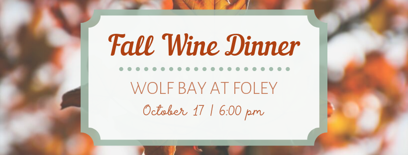 Fall 2019 Wine Dinner Foley