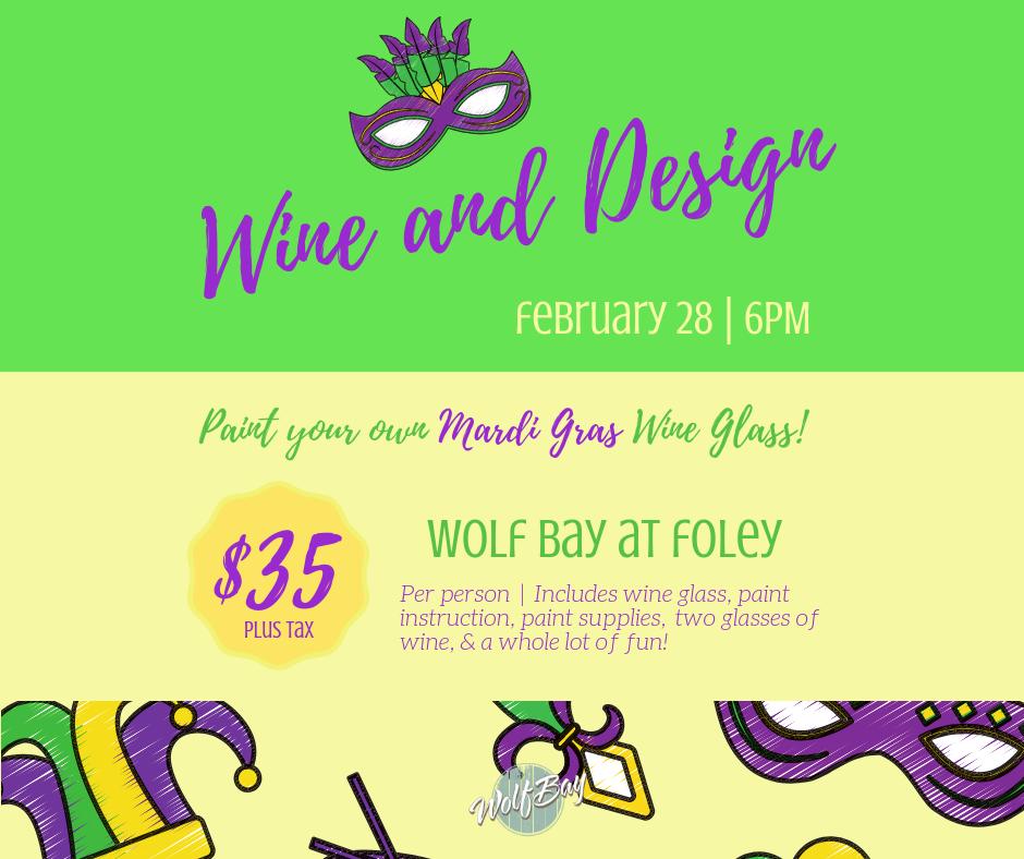Wolf Bay Mardi Gras Wine & Design