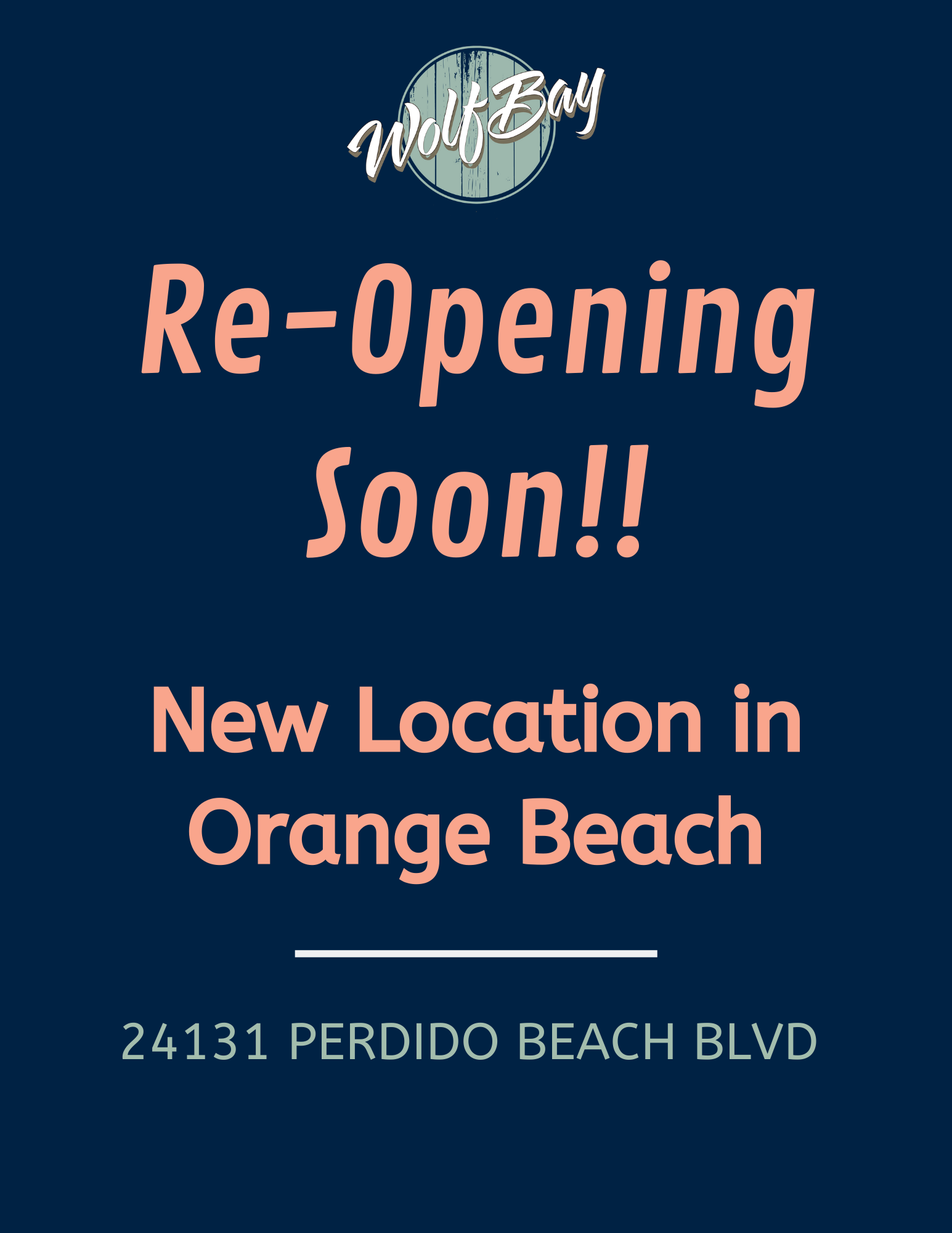 Orange Beach Re-opening in new location