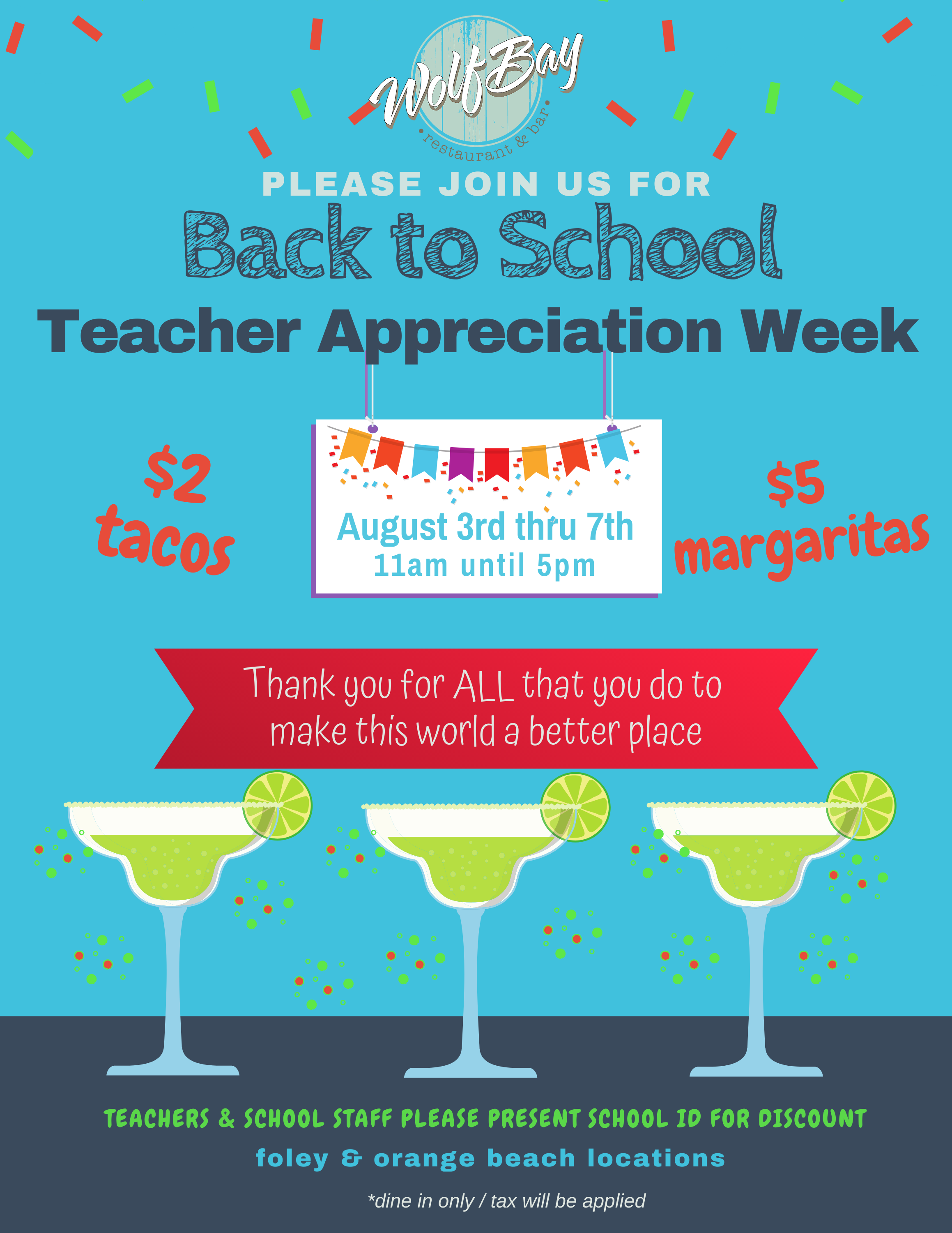 Back to School Teacher Appreciation