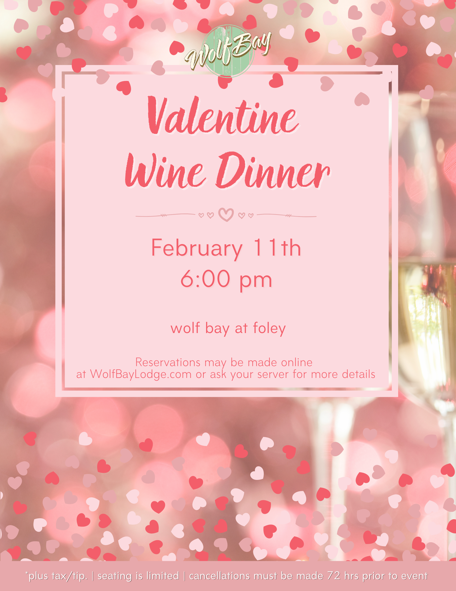 Wolf Bay Valentine Wine Dinner