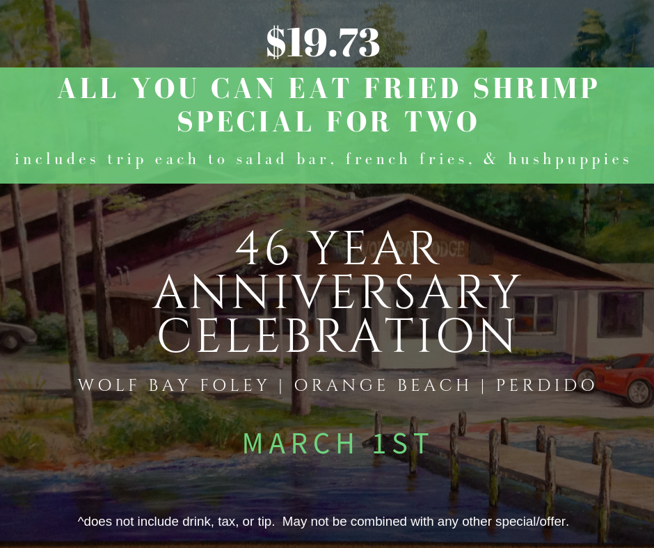 46th Anniversary Special at Wolf Bay
