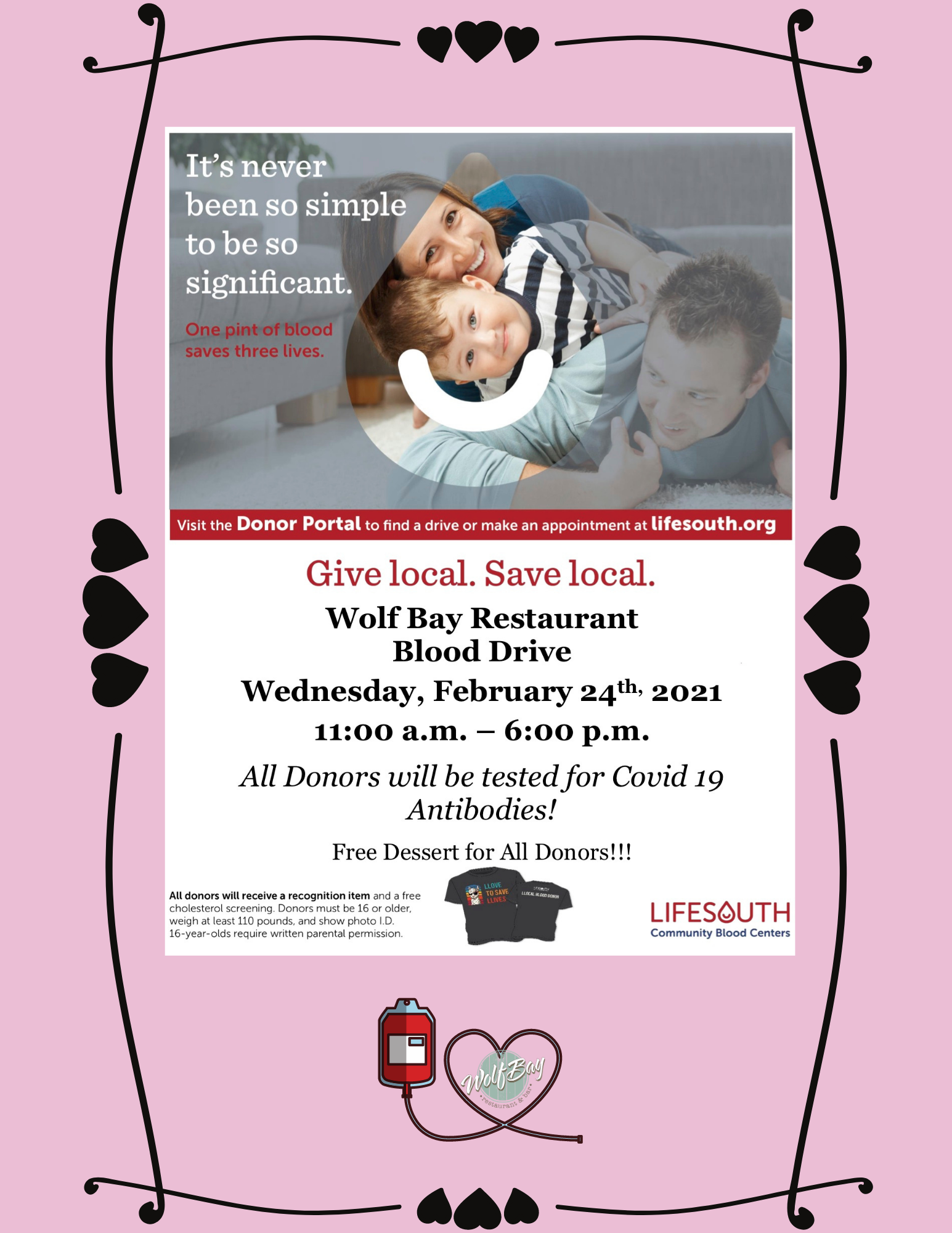 Wolf Bay and LifeSouth Blood Drive