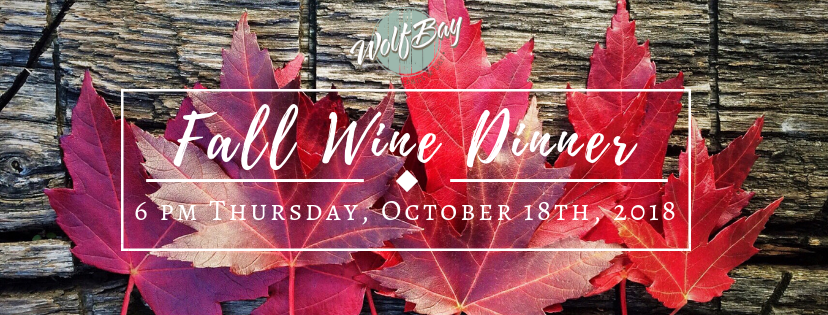 Fall Wine Dinner at Wolf Bay Foley