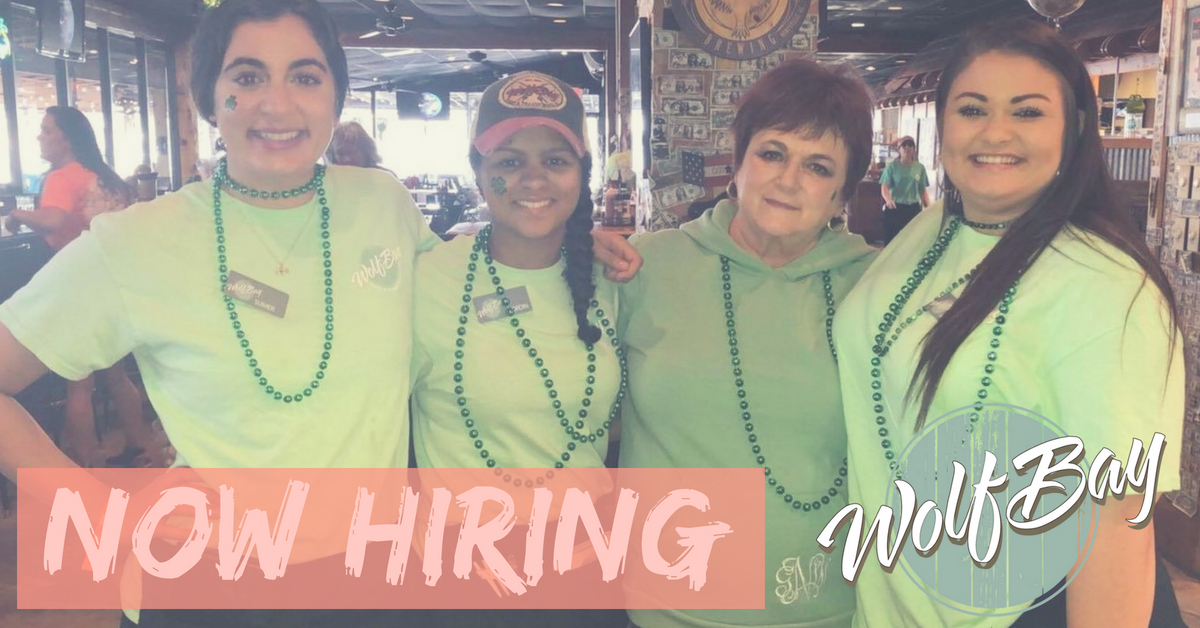 Hiring ALL Positions at Wolf Bay in Foley and Orange Beach