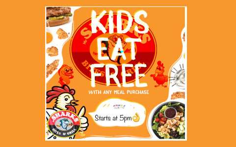 Kids Eat Free After 5pm With Any Meal Purchase