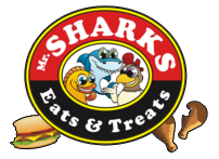 Mr Shark's Eats & Treats Logo will link to the home page