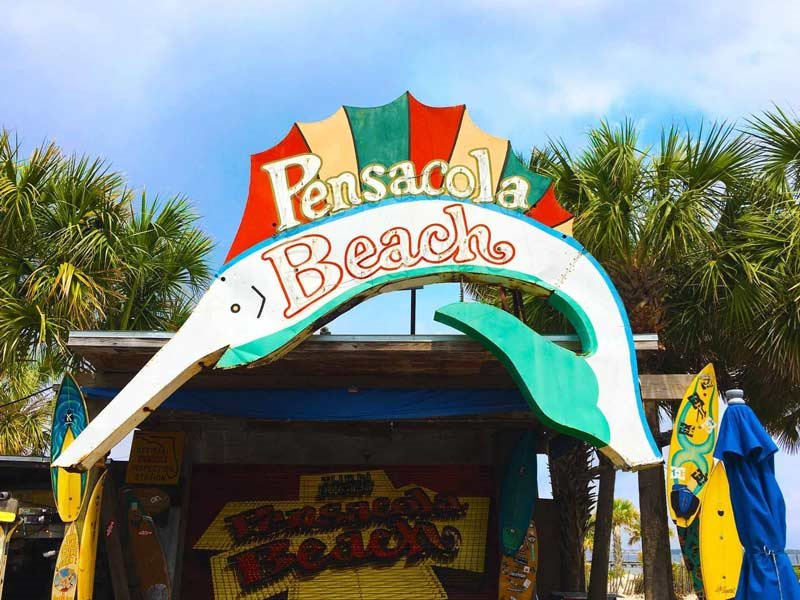 The Original 'Pensacola Beach' Sign